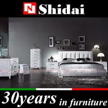 Diseño clásico de madera cama con cubierta de la PU / king size sofá cama / madera maciza cama de matrimonio modelos B86