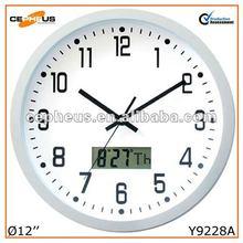 Lcd Calendar Wall Clock