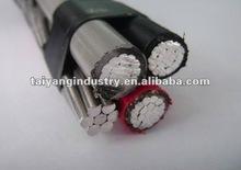 0.6/1kV 3*95mm2 aluminium conductor XLPE/PE insulation Duplex Service Drop Cable/ABC