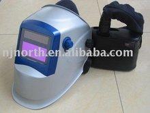 Dust Respirator with auto-darkening welding helmet