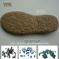 Tpr termoplástico de goma para los zapatos de suela de tpr plantillas gránulos/suelas material