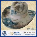 2013 moda cowboy chapéu de feltro de lã de impressão camo