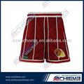 özelleştirilmiş kırmızı tasarım güzel basketbol gömlek ve pantolon