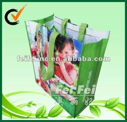 Glossy shopping PP laminated bag/laminated non woven bag