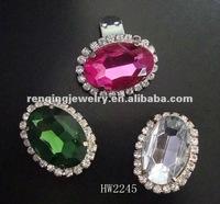 2012 hot lady sandal pink acrylic rhinestone shoe clips upper decoration