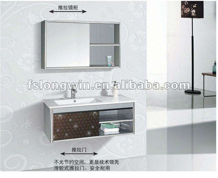 Modelo econômico lw611 aço inoxidável armário de banheiro -> Armario De Banheiro Mobly