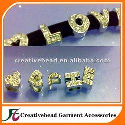 mini rhinestone Letters buckle