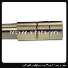 hot design decorative metal screw round iron curtain rod finials