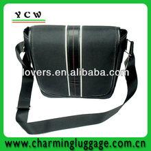 leather canvas shoulder bag for men