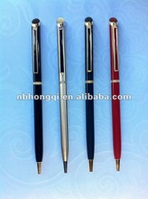 Metal Brass Rotating ball pen Slim Twist action Metal Pens