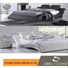 Italian genuine leather bed 8013
