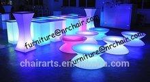 shanghai commercial furniture bar nightclub acrylic LED glowing lounge coffee table