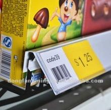 wire basket label holder Plastic strip
