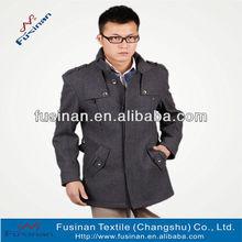 stylish wool long mens coat for 2013 winter