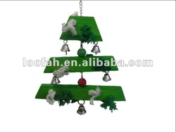 eco-friendly green christmas tree toys for birds