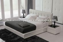 modern room furniture soft home use faux leather bed bedroom design H1216
