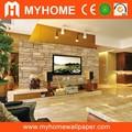 Venda quente 3d wallpaper, pvc papel de parede projetos, pedra bonita wallpaper