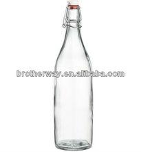 airtight glass juice bottle leakproof glass milk bottles glass bottles with clip lid