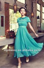pure silk elegant lady mixi fashion dress
