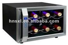Professional and Fashionable 8 bottled 750ml 25L wine refrigerators(push-button)