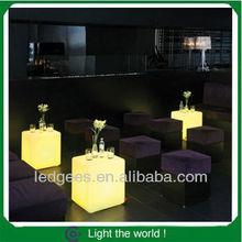 50cm plastic lighting led cube table