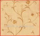 korean wall paper/flower design/pvc wallpaper