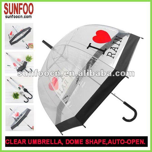 cupola trasparente a forma di ombrello trasparente