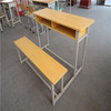 MDF board school desk and chair,double student desk and chair