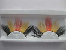 2012 new style natural strip mixed color false eyelash