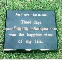 Black granite pet memorials stone