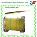 eléctrico con núcleo de cobre aislados con pvc de color verde amarillo cable de puesta a tierra