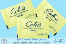 sucralose sweetener low calorie health sugar sachet