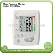 CE approved upper arm digital blood pressure measuring instruments