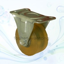 Industrial PU Polyurethane Fixed 2.5-Inch Caster
