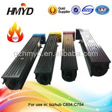 China printer cartridge compatible bizhub C654 C754 color toner powder cartridge