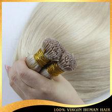 2014 new prodcut tangle free shedding free u tip hair extension I tip hair extension prebonded I tip human hair extention