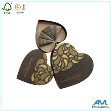 For Valentine's Day/wedding gift packaging rigid paper heart shaped chocolate box, chocolate gift box