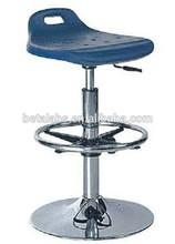 Low price adjustable metal laboratory stool/PU lab stool