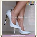 Miliya zapatos de las mujeres! Blanco de cuero zapatos de las mujeres! Patrón de la serpiente zapatos de tacón alto