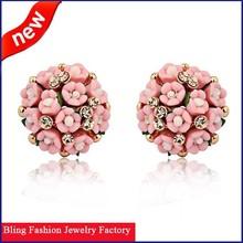 Fashion Design Earrings For Women Ceramic fashion Flower earrings