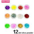 12 renk glitter toz tırmanmak küçük dekorasyon toptan DHL/fedex nakliye #1601