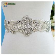 Garment accessories bailange bridal dress fashion wholesale pearl rhinestone bridal sashes belt
