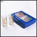 Florimpresa tazas de vidrio conjunto, hermoso de oro plateado agua potable set