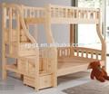 Durable double adulte moderne en bois massif hêtre lits superposés en bois massif mobilier de chambre d'enfants lit superposé en bois double