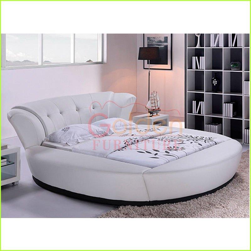 moderne runde betten des wei en leders f r kinder. Black Bedroom Furniture Sets. Home Design Ideas