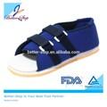 Melhor- passo lona azul leve pós-op sapato
