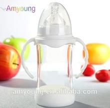 Unique glass breastfeeding food bottles guangzhou china ,240ml/80z BPA free wide neck baby feeding bottlebaby bottles