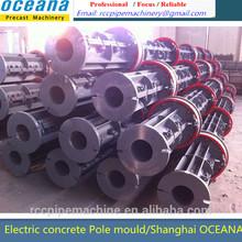 Concrete Pole Making Machines for diameter 130-150-190-210-230-310-350mm electric utility pole, molde de poste de concreto