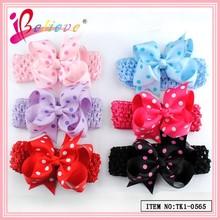 Wholesale handmade crochet elastic headband, elastic crochet headband, hair headbands