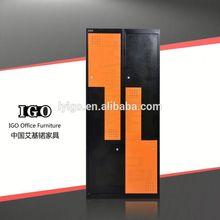 ISO Certified IGO-021 High Quality Unique Z Door worker steel locker with lock